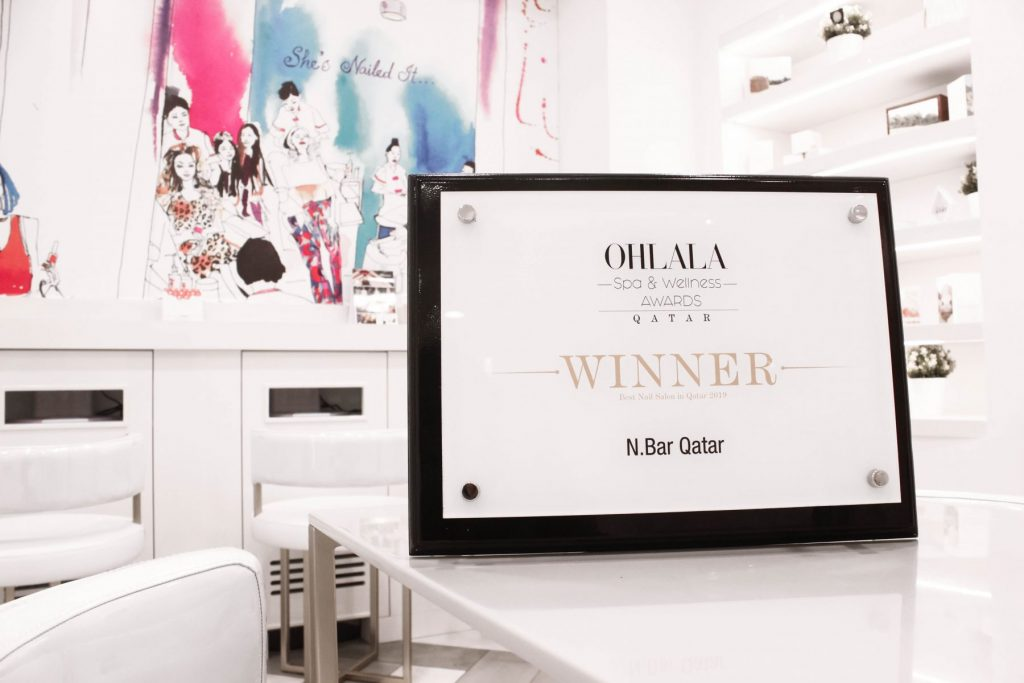 N.BAR QATAR WINS BEST OHLALA SPA & WELLNESS BEST NAIL SALON AWARD OF THE YEAR 2019